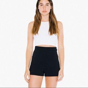 AA Black Crepe Shorts